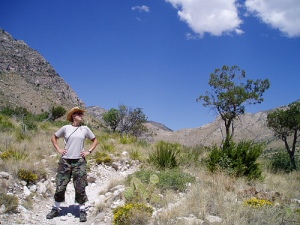 Me in the Guadalupe Mountains National Park